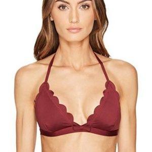 NWOT Kate Spade New York Scalloped Bikini Top
